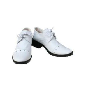 Black Butler Kuroshitsuji Ciel Phantomhive White Faux Leather Cosplay Shoes