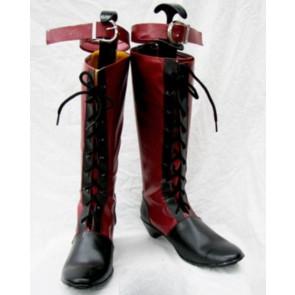 Black Butler Kuroshitsuji Ciel Imitation Leather Rubber Cosplay Boots