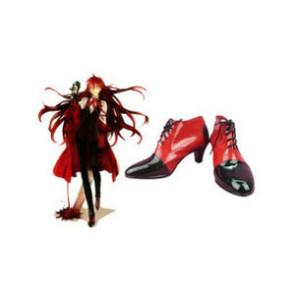 Black Butler Kuroshitsuji Grell Sutcliff Imitation Leather Cosplay Shoes