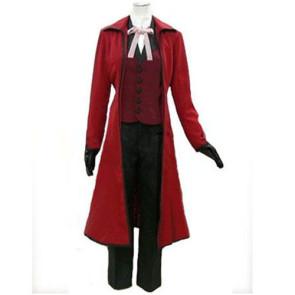 Kuroshitsuji Black Butler Grell Sutcliff Cosplay Costume