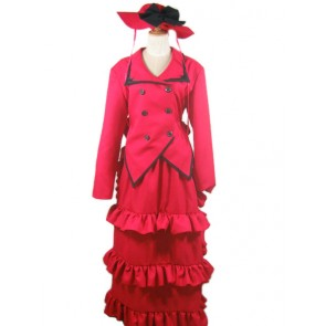 Kuroshitsuji Black Butler Madam Red Angelina Durless Cosplay Costume
