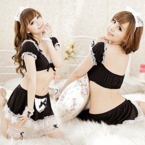 Black Hot Two-piece French Maid Costume