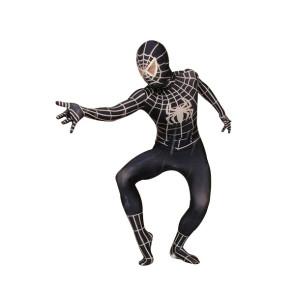 Black Lycra Spandex Spiderman Zentai Suit