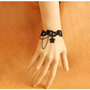 Black Modern Lace Lolita Bracelet