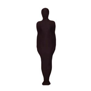 Black Mummy Style Lycra Spandex Unisex Zentai Suit