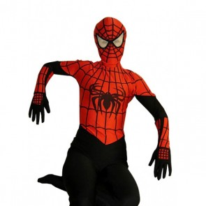 Black & Red Lycra Spandex Spiderman Zentai Suit