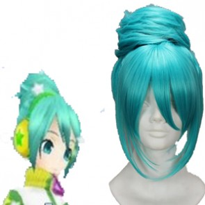 Blue 45cm Vocaloid Cosplay Wig