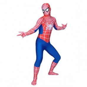 Blue And Red Lycra Spandex Spiderman Zentai Suit