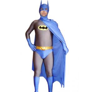 Blue Batman Lycra Spandex Superhero Zentai Suit