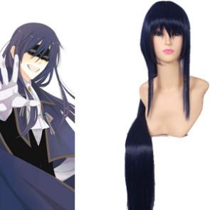 Blue Black 80cm Inu x Boku SS Kagerou Shoukiin Cosplay Wig