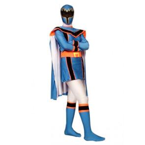 Blue Dinosaur Soldier Lycra Spandex Superhero Zentai Suit