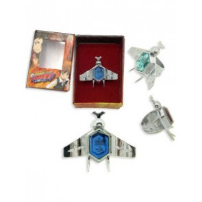 Blue Katekyo Hitman Reborn Simon Family Ring Set