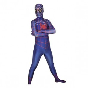 Blue Lycra Spandex Spiderman Zentai Suit