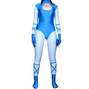 Blue Unisex Lycra Spandex Zentai Suit