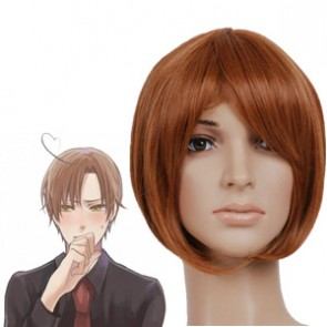 Brown 32cm Axis Powers Hetalia SOUTH ITALY Lovino Vargas Nylon Cosplay Wig