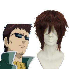 Brown 32cm Gintama Hasegawa Taizou Cosplay Wig