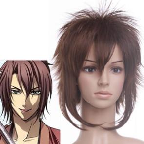 Brown 32cm Hakuouki Okita Souji Cosplay Wig
