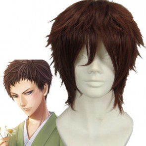 Brown 32cm Hakuouki Yamazaki Susumu Cosplay Wig