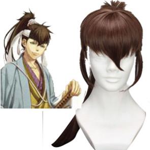 Brown 80cm Hakuouki Toudou Heisuke Cosplay Wig