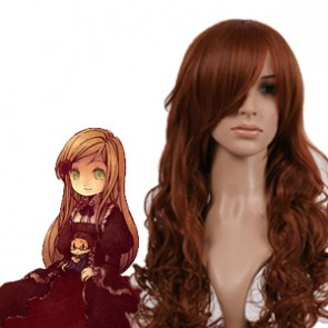 Brown 90cm Axis Powers Hetalia Elizabeta Hedervary Cosplay Wig