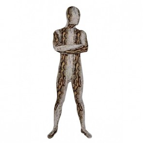 Brown And Grey Snakeskin Lycra Spandex Zentai Suit