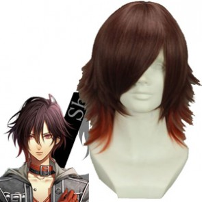 Brown Red 35cm Amnesia Shin Cosplay Wig