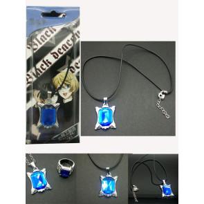 Black Butler Kuroshitsuji Necklace Ring Set