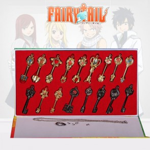 Fairy Tail Alloy Anime Key Chain Set