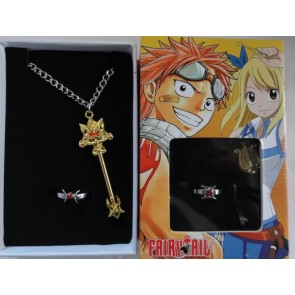 Fairy Tail Anime Necklace Ring Set