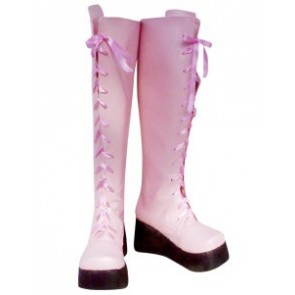 Kingdom Hearts II Yuna Imitation Leather Cosplay Boots