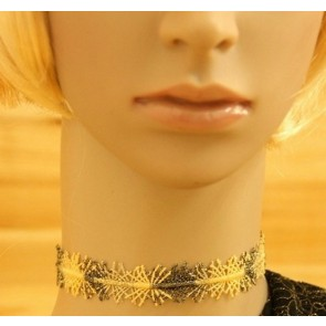 Charming Golden Lace Lady Lolita Necklace