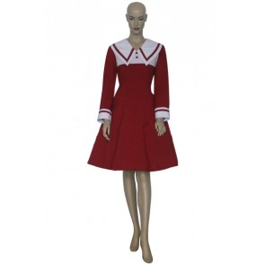 Chobits Chii Red & White Cosplay Costume Dress