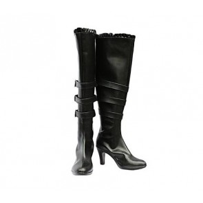 Chobits Freya Black Cosplay Boots