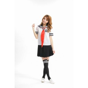 Classic Black Short Sleeves School Girl Uniform