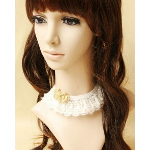 Classic White Floral Decoration Lolita Necklace