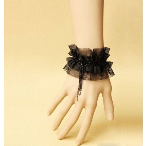 Concise Black Handmade Lolita Wrist Strip