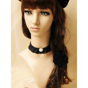 Concise Black Lace Girls Lolita Choker