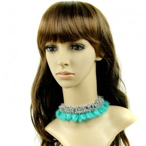 Concise Green And Grey Collar Girls Lolita Necklace
