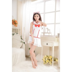 Cute Backless Bow Nurse Costume