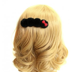 Cute Black Bow Girls Handmade Lolita Hairpin