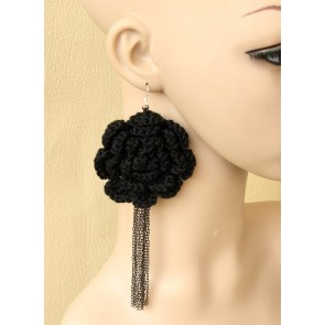Cute Floral Girls Handmade Lolita Earrings