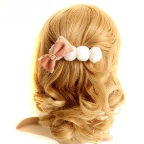 Cute Pink Bow Girls Lolita Hairpin