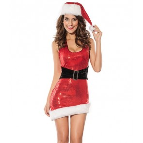 Cute Polyester Santa Girls Christmas Dress