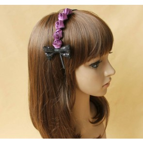 Cute Rose Bow Girls Lolita Headband