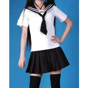 Cute Short Sleeves Girl School Uniform Cosplay Costume