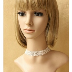 Cute White Lace Lady Lolita Necklace
