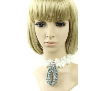 Cute White Lace Lolita Necklace
