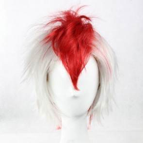 White and Red 38cm Hoozuki no Reitetsu Goldfish Plant Cosplay Wig