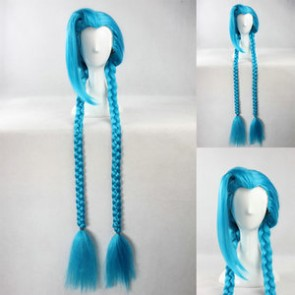 Blue 135cm League of Legends LOL Jinx Cosplay Wig