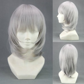 Grey 40cm Good Luck Girl! Ichiko Sakura Cosplay Wig